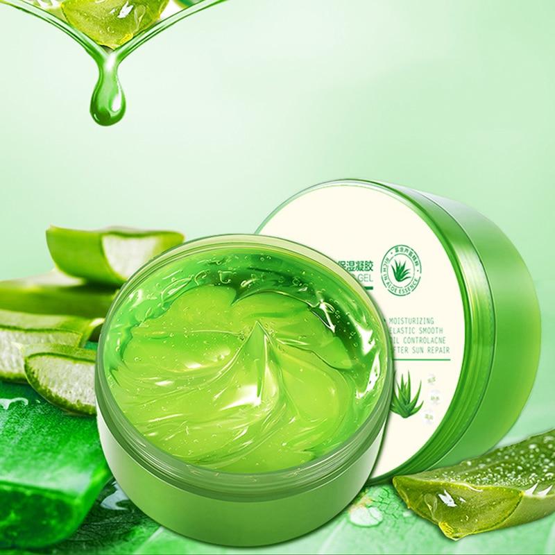 120g Aloe Soothing Face/Hand/Body Gel Aloe Vera Gel Skin Care Remove Acne Moisturizing Day Cream After Sun Lotions Aloe Gel